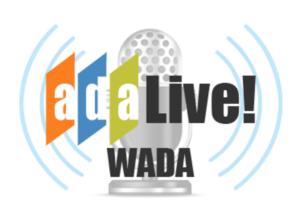 ADA Live! radio show logo